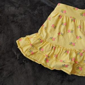 Lands End kids yellow floral skirt